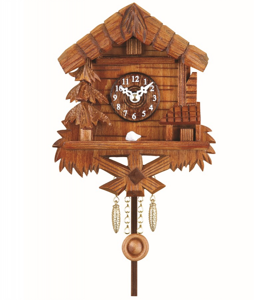 Kuckulino Black Forest Clock with quartz movement and cuckoo chime ...