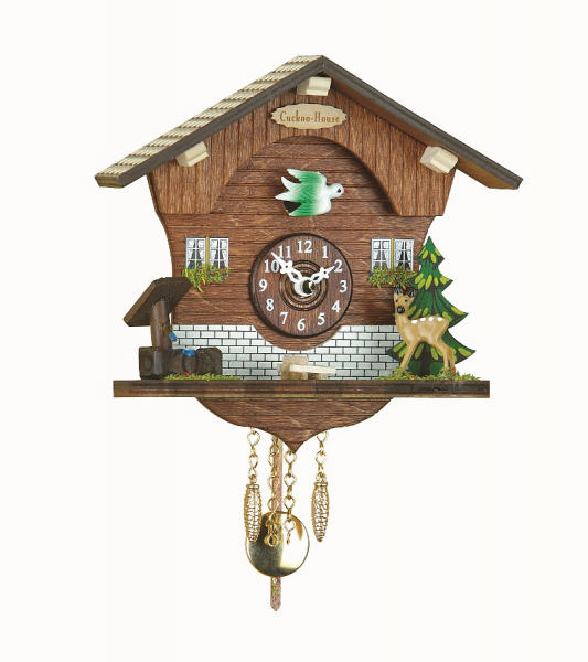 Kuckulino Black Forest Clock Black Forest House with quartz movement ...