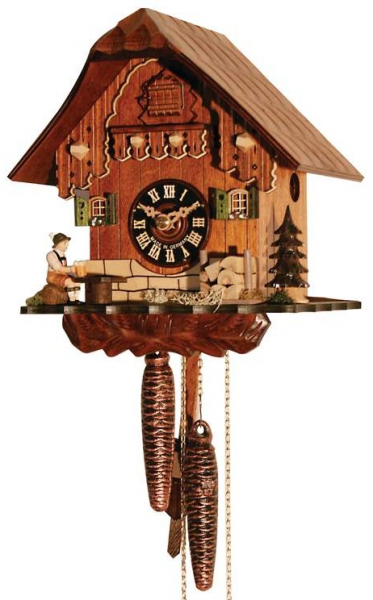 Cuckoo Clocks - Kassel Old Style Black Forest Mechanical Cabin Cuckoo ...