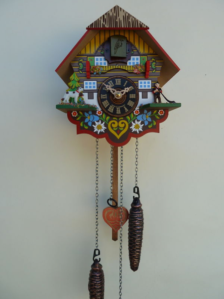 River City Multi-Colored Quartz Cuckoo Clock M8-08PQ