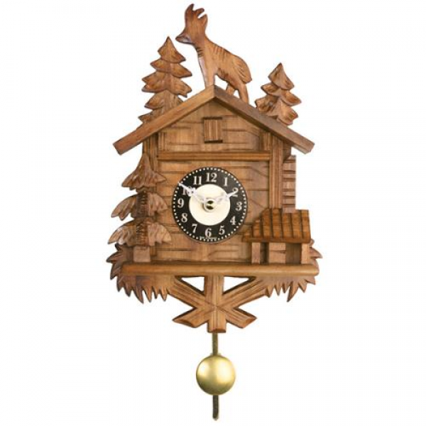 River City Clocks 8 Quartz Cuckoo Clock with Goat and Trees ...