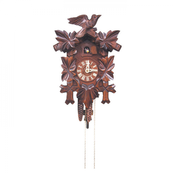 Black Forest German Cuckoo Clock with 5-Leaf Design—Buy Now!