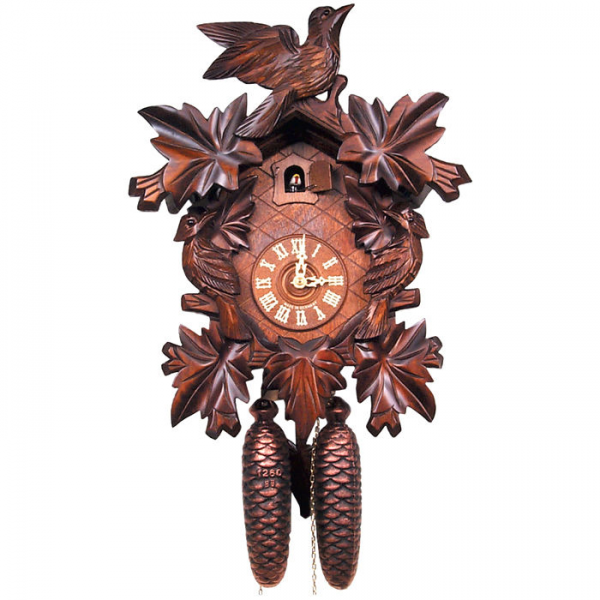 Black Forest Cuckoo Clock with 5 Leaf Design and 8 Day Weight Large ...