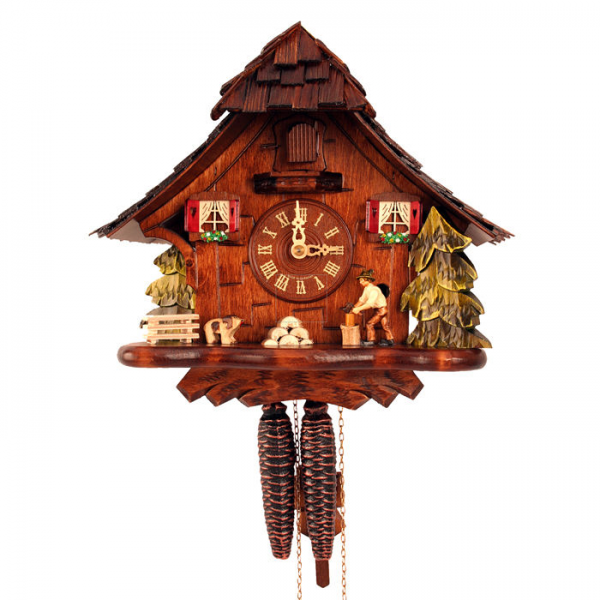 Black Forest Cuckoo Clock with Woodcutter at Brookstone—Buy Now!