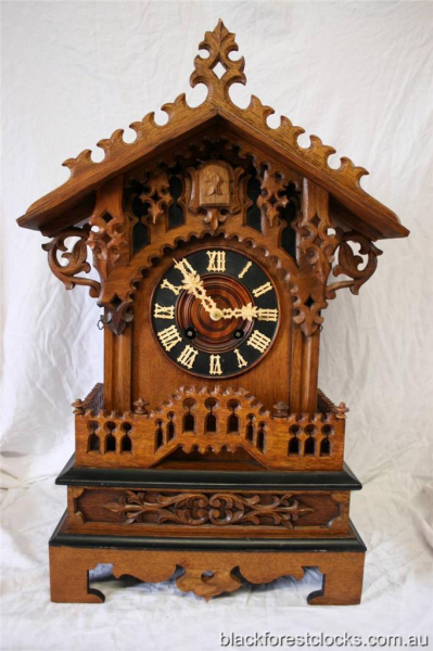 Details about Antique Gothic Cuckoo Clock