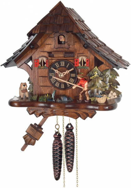 One Day Cuckoo Clock Cottage - Fisherman Raises Fishing Pole