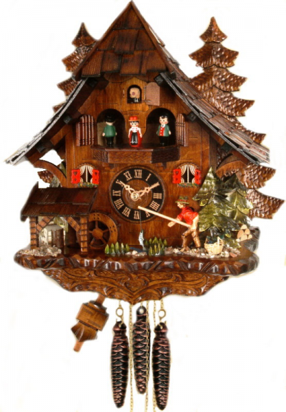Musical Fishing Cuckoo Clock 4739MT - Cuckoo Clock Nest