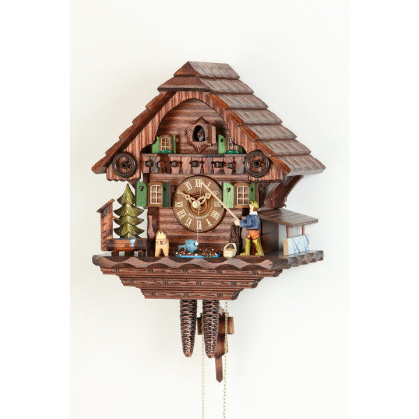 Cuckoo clocks > 1 day mechanism > Cuckoo clock Hekas Fisherman