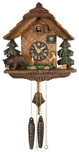 image s the fisherman one day movement chalet style cuckoo clock ...
