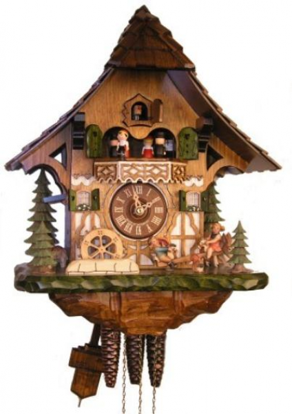 ... clock.com | Adolf Herr Cuckoo Clock - Fun on the See-Saw - 1 day with