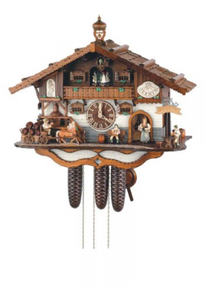 ... Forest 21 Inch Musical Rural Beer Garden 8 Day Movement Cuckoo Clock