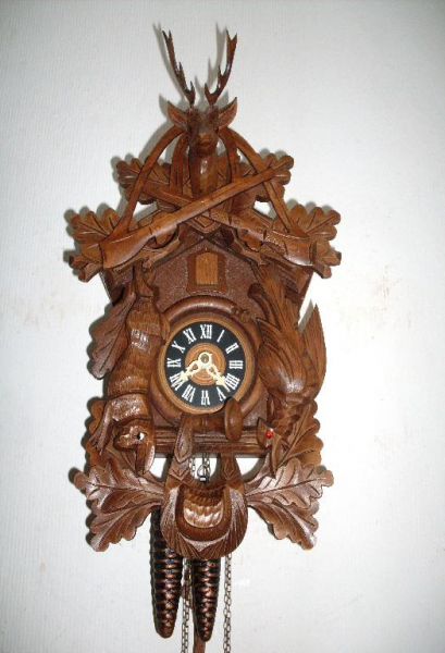 ... about Antique German 2 Weight original Black Forest Cuckoo Clock 1950
