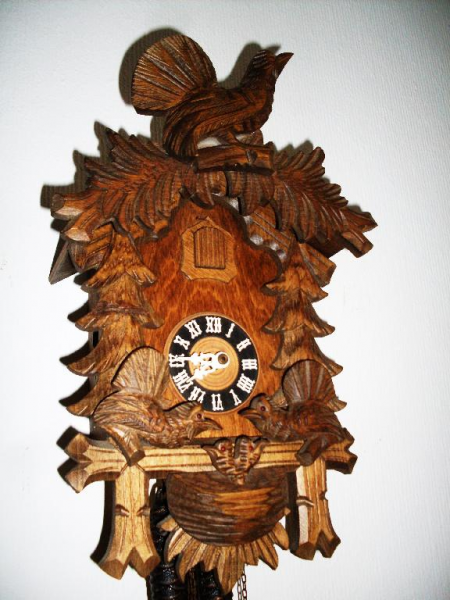 ... old German 2 Weight original Black Forest wall clock Cuckoo Clock 1940
