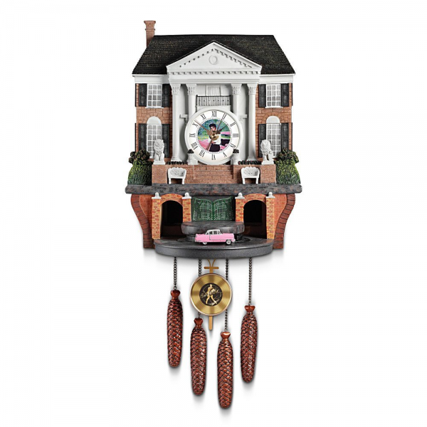 Cuckoo Clock: Elvis Presley's Graceland by The Bradford Exchange