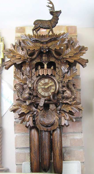 large carved wooden cuckoo clock | cuckoo clocks | Pinterest