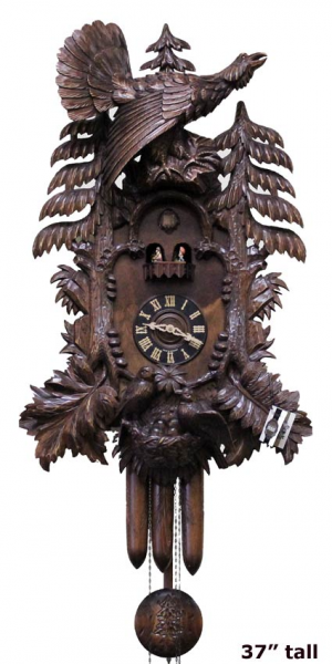 Preowned Dold 8-MT-201 Cuckoo Clock Forest Scene with Grouse and 2 ...