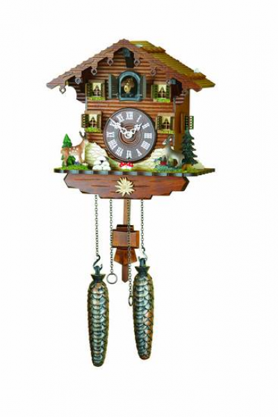 Chalet Cuckoo Clocks Cuckoo Clock Quartz-movement Chalet-Style 22cm by ...