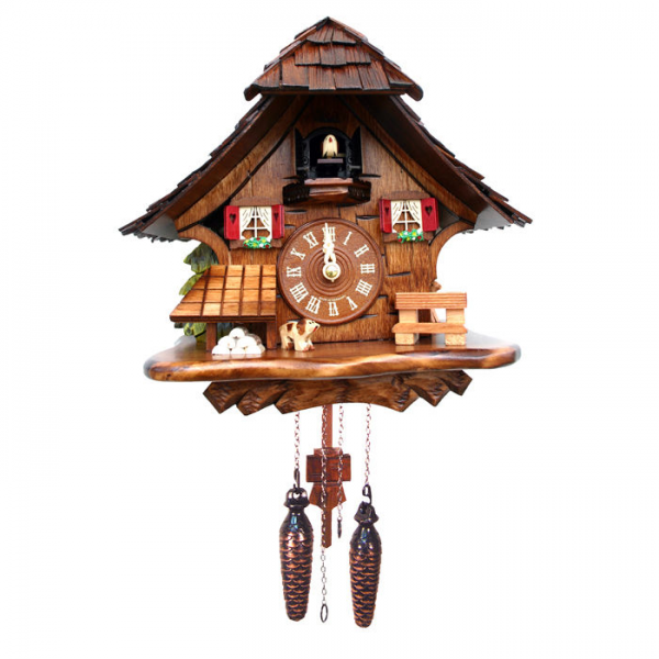 Battery-Operated Chalet Cuckoo Clock at Brookstone—Buy Now!