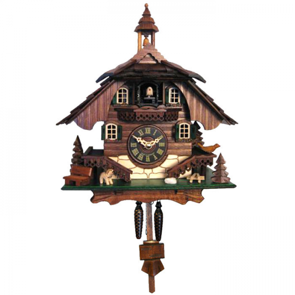 Engstler Battery Operated Dog and Bird Cuckoo Clock