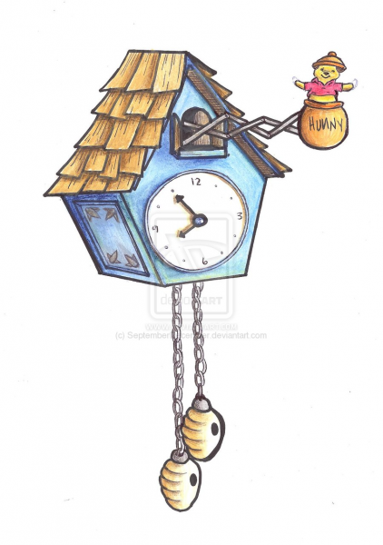 pooh coo clock by SeptemberDecember on DeviantArt