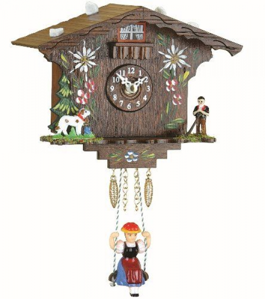 Black Forest Clock Swiss House with quartz movement and cuckoo ...