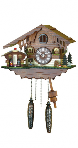 Details about Cuckoo Clock Swiss house with weather h.. NEW