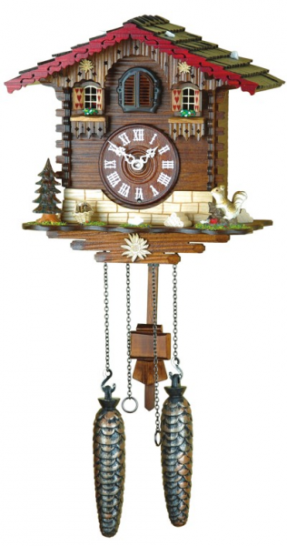 Cuckoo Clock Swiss house, incl. batteries - Quartz cuckoo clocks ...