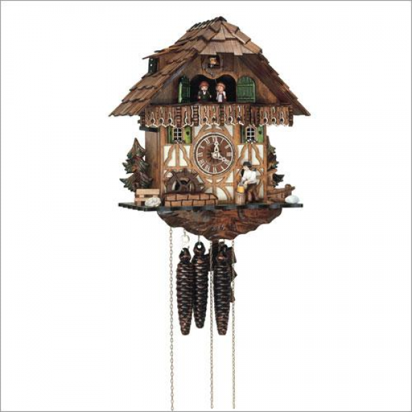 Schneider Black Forest 12.5 Musical Wood Chopper Cuckoo Clock ...