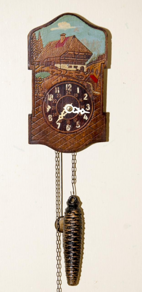 ANTIQUE VINTAGE MINI GERMAN CUCKOO CLOCK DESIGN MECHANICAL WALL CLOCK ...