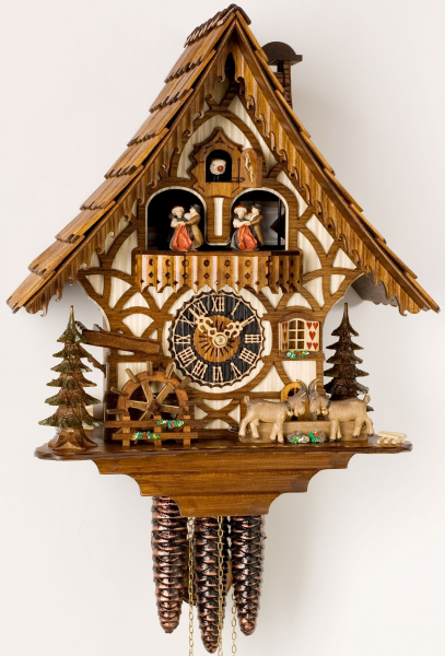 ... Dancers Chalet - 1 Day Mechanical German Black Forest Cuckoo Clock