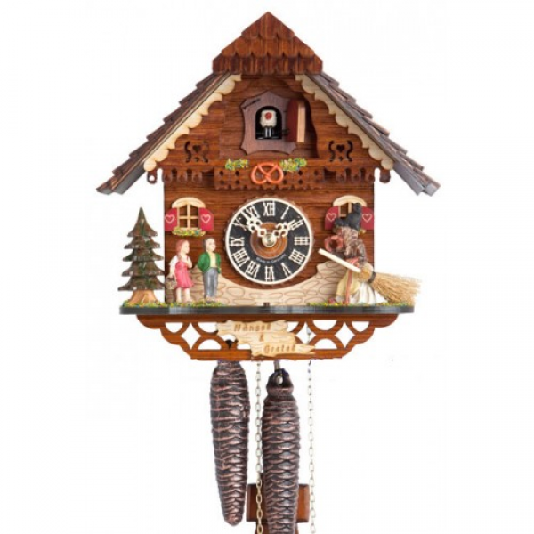 ... and Gretel Chalet - 1 Day Mechanical German Black Forest Cuckoo Clock