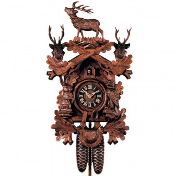 ... Style with Animals - 8 Day Mechanical German Black Forest Cuckoo Clock