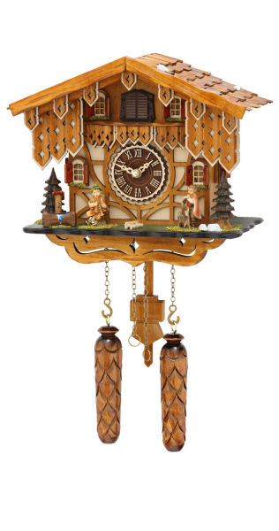 Quartz Cuckoo Clock Swiss house with music, incl. batteries - Quartz ...