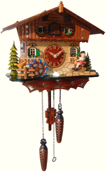 Quartz Musical Cuckoo Clock With Rocking Horse 4105QM - Cuckoo Clock ...