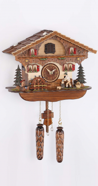 Quartz Musical Man Splitting Wood Cuckoo Clock