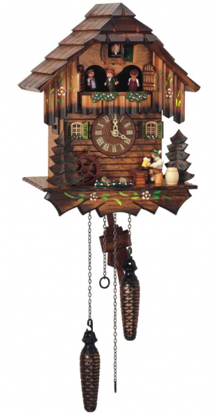 Quartz Musical Hand Painted Beer Drinker Cuckoo Clock