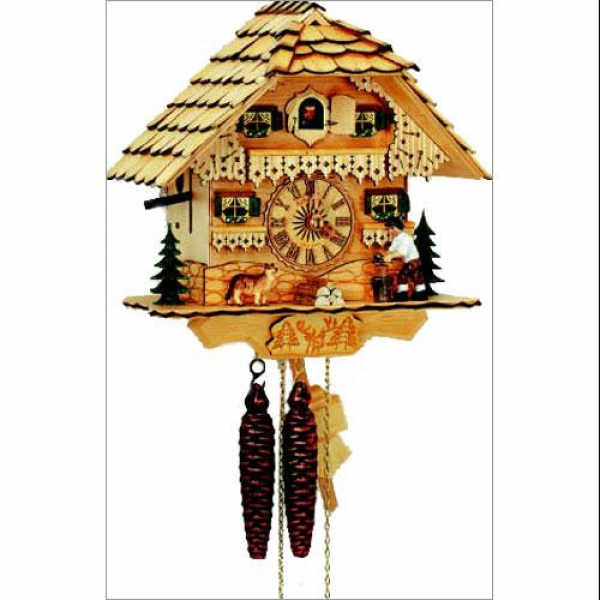 Schneider 10 Black Forest Wood Chopper Natural Cuckoo Clock ...