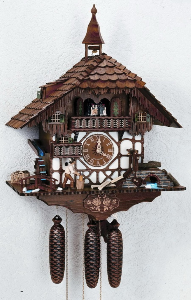Cuckoo clock: Wood Chopper | Clocks | Pinterest
