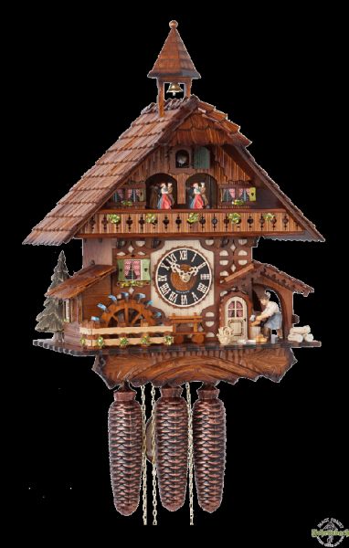 Home Chalet Cuckoo Clock With Wood Chopper - Hönes