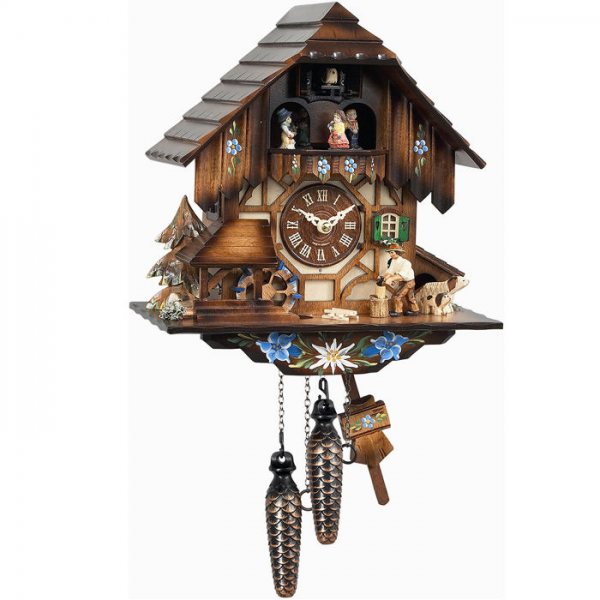 Engstler Weight-Driven Cuckoo Clock - Man Chopping Wood—Buy Now!