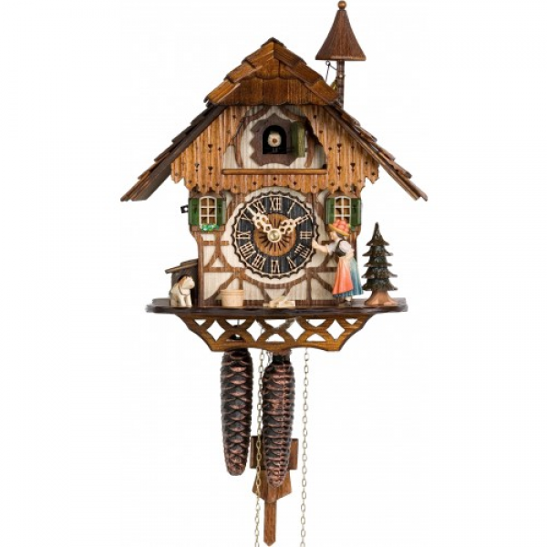 ... Bell Ringer Chalet - 1 Day Mechanical German Black Forest Cuckoo Clock