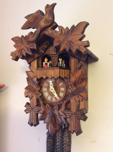 Musical Cuckoo Clock Black Forest Fully Serviced See Video