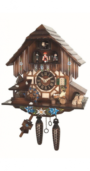 ... beer drinkers and mill wheel EN 464 QMT - Quartz cuckoo clocks with