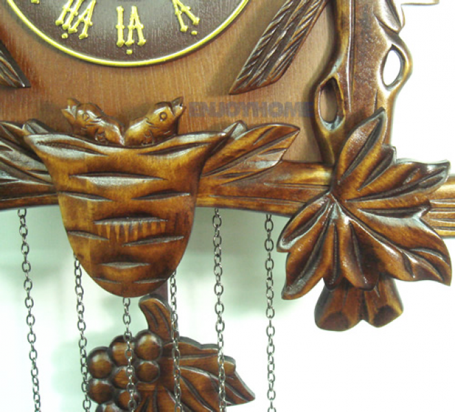 Details about New Large Hand-Carved Quartz Hunter Wooden Cuckoo Clock