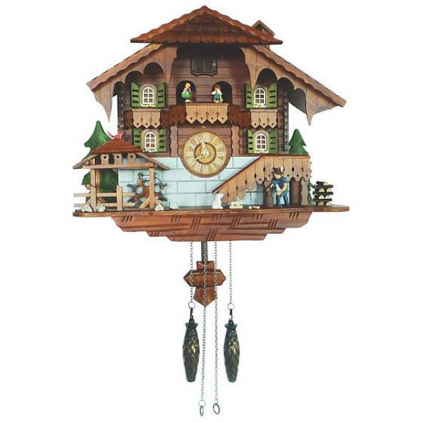 New Kassel Cuckoo Clock HHCC12 Large Wood AX Man Moving Water Wheel ...