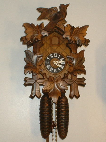 Large Vintage German Cuckoo Clock Black Forest 8-Day, Professionally ...