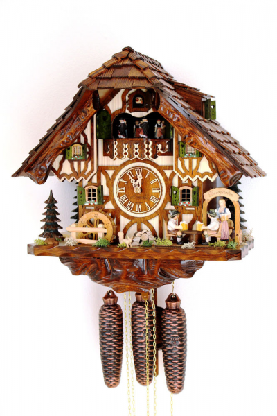 Cuckoo Clock Black Forest 8 Day Original Germany Music Beer Drinker ...