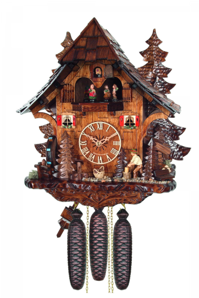 cuckoo clock black forest 8 day original german wood chopper wood ...