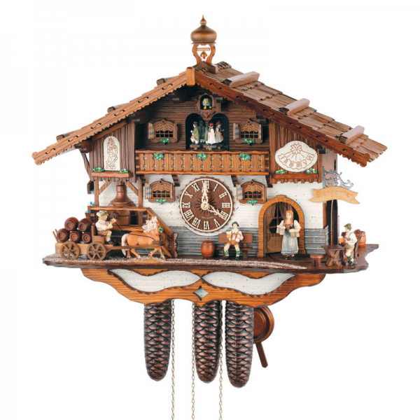 original 8 original 8 day mechanical cuckoo clock bavarian house with ...