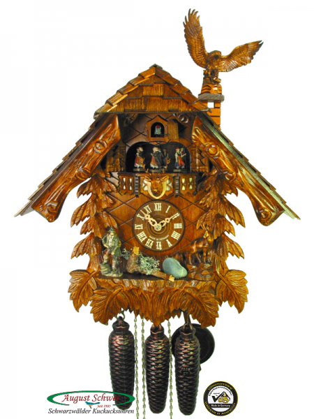 Details about Black Forest Cuckoo Clock 8-Day The Hunter's House NEW